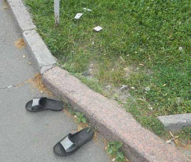 У столиці недолугий злодій втратив документи та капці, тікаючи з місця злочину