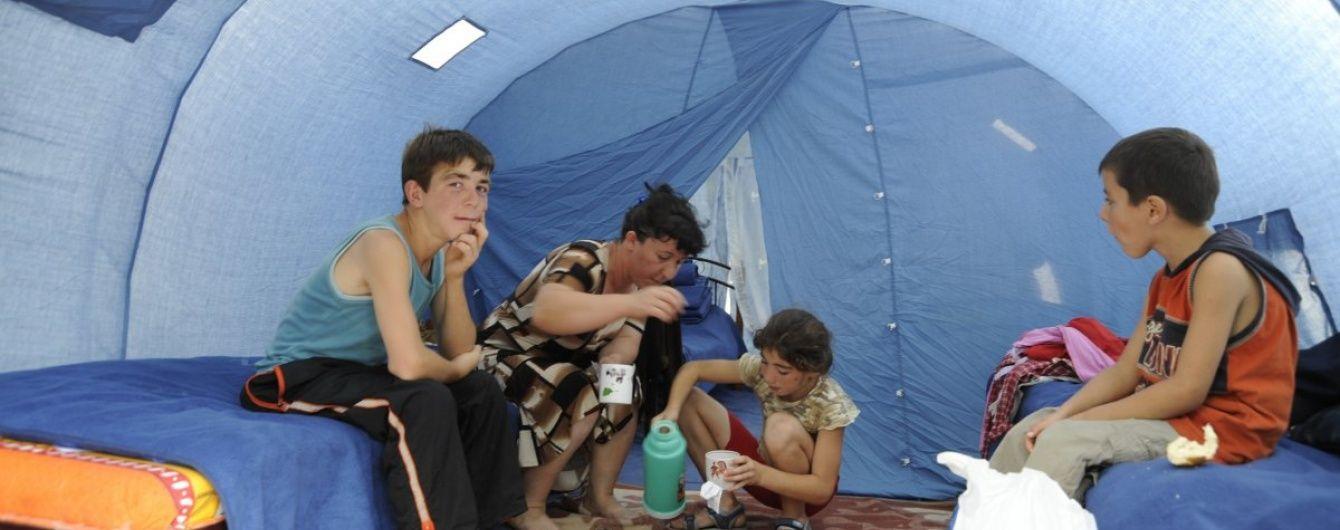 У Сєвєродонецьку ураган зніс наметове містечко для переселенців
