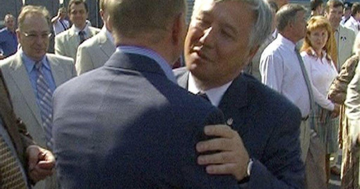 Сентябрь 2005 года. Юрий Ехануров и Леонид Кучма