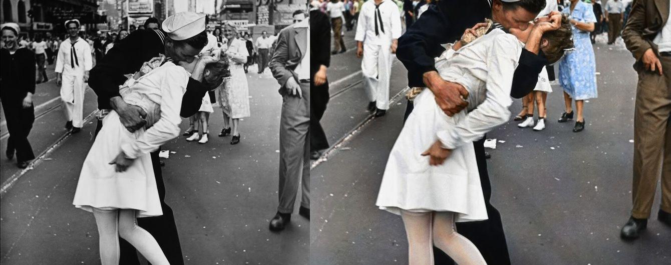 """У США померла медсестра з відомої фотографії """"Поцілунок на Таймс-Сквер"""""""