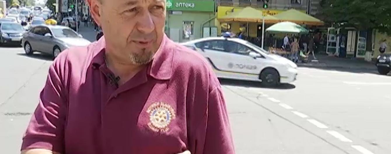 Конфлікт на дорозі: у центрі Києва бородатий водій розстріляв пішохода