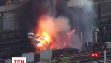 В Москве произошел масштабный пожар в метро