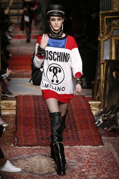 Отчаянный глэм-рок в коллекции Moschino сезона осень-зима 2016-2017