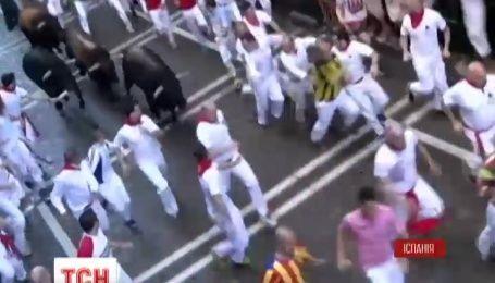 Півтора десятки туристів постраждали від ріг та копит бика у Памплоні