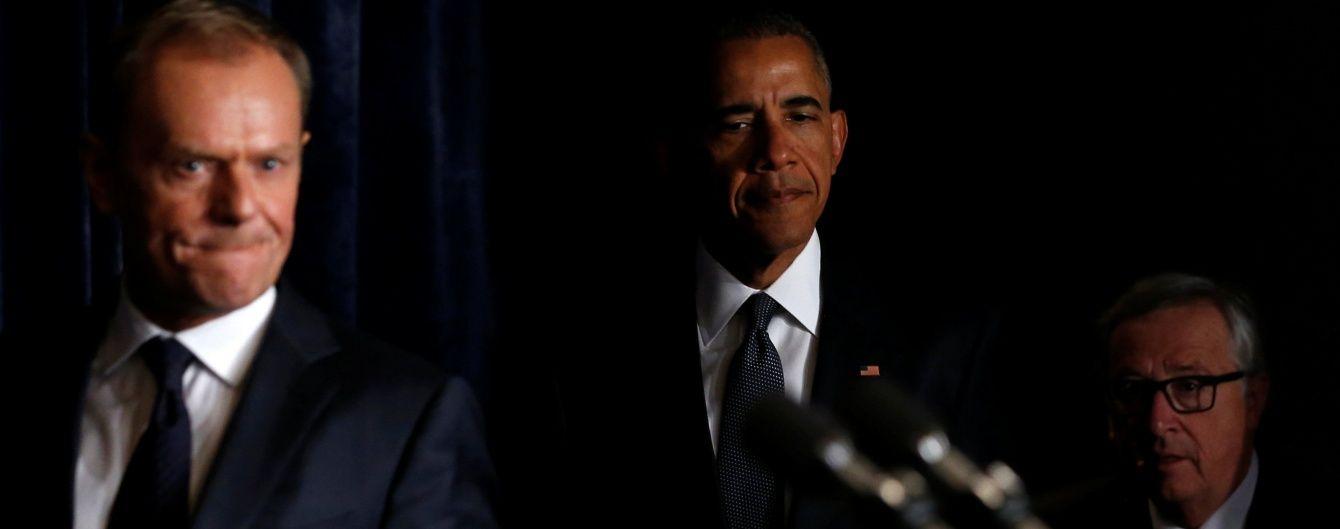 Обама обговорив з очільниками Єврокомісії та Євроради подальші санкції проти РФ