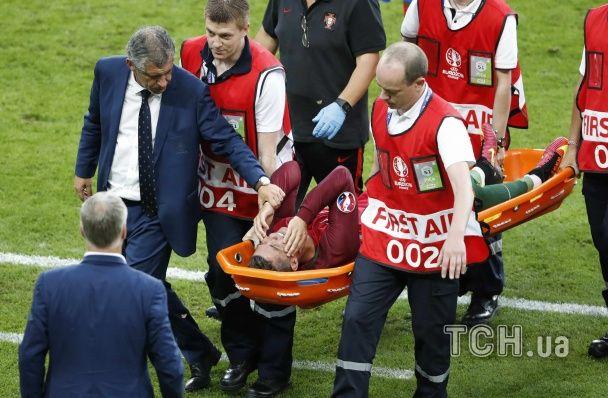 Роналду через травму не зміг дограти перший тайм битви Португалія - Франція