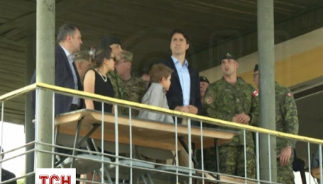 Премьер-министр Канады Джастин Трюдо посетил Яворивский полигон