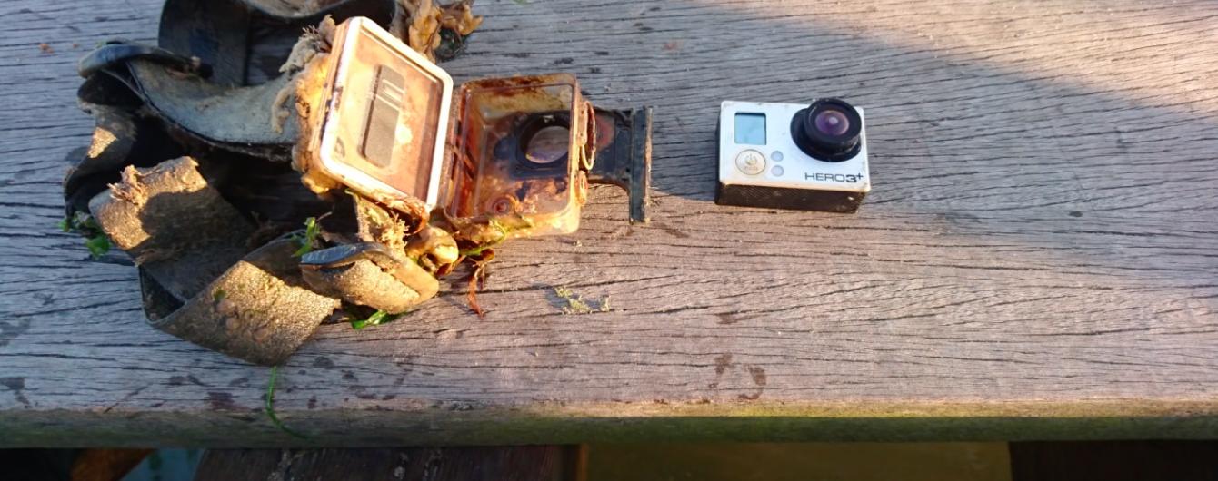 Загублена камера GoPro рік знімала життя на дні озера