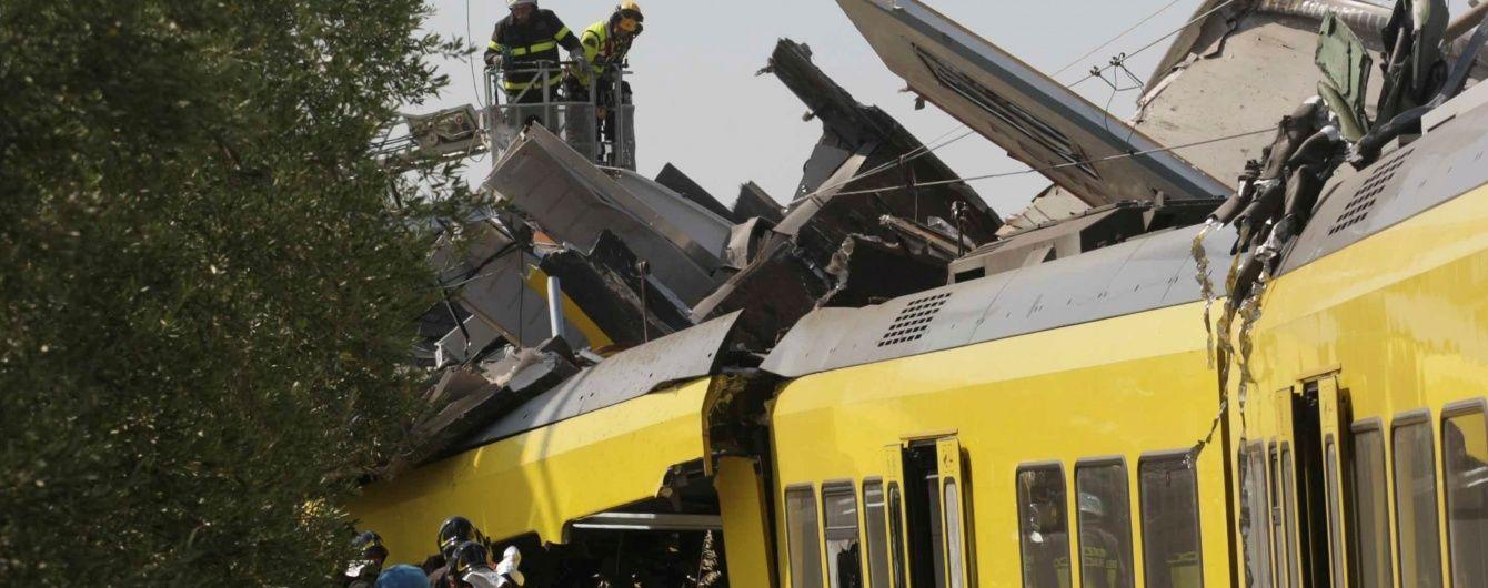 Один з машиністів вижив у катастрофі поїздів в Італії - ЗМІ