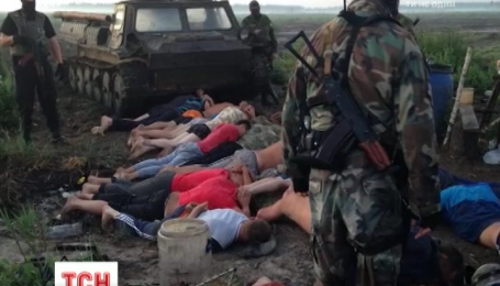 С помощью беспилотника спецназовцы обнаружили группу нелегальных старателей