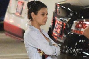 Охота за Милой Кунис: папарацци преследуют беременную актрису