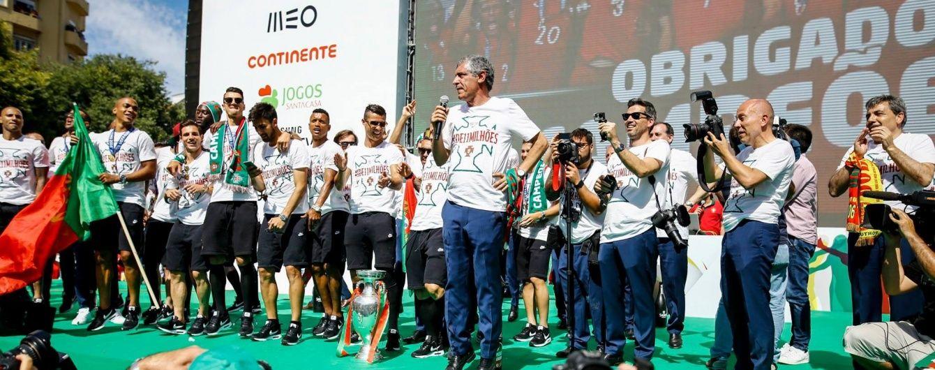 """Тренер """"королів Європи"""" Сантуш подовжить контракт зі збірною Португалії"""
