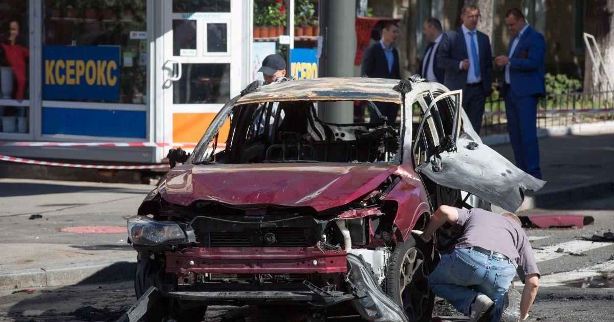 Фото с места взрыва