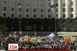"""""""Азов"""" і шахтарі провели акцію протесту біля Кабміну"""
