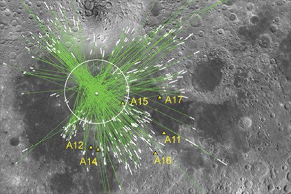 На Луне нашли следы столкновения спротопланетой