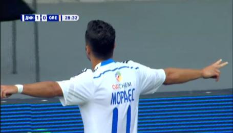 Динамо - Олександрія - 1:0. Відео голу Мораєса