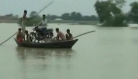 Муссонные дожди в Индии затопили часть страны
