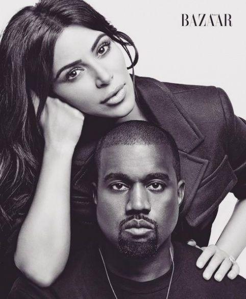 Ким Кардашьян и Канье Уэст в фотосете для Harper's Bazaar_3