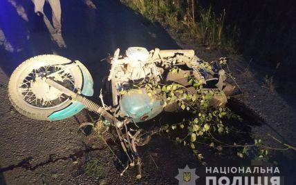 У Житомирські області розбився мотоцикліст, зіткнувшись з деревом