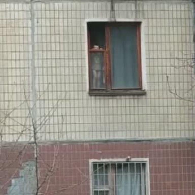 Уже раз выпал: в Кривом Роге ребенок регулярно стоит на окне многоэтажки (видео)