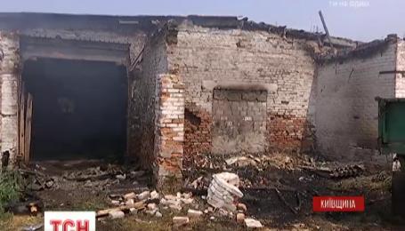 На Киевщине произошел масштабный пожар на свиноферме