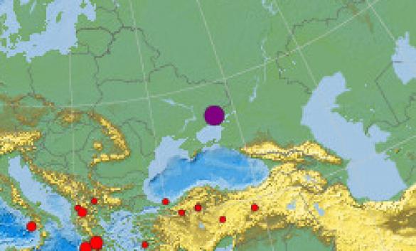 землетрус на Донеччині
