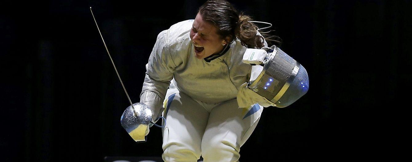Українська шаблістка Комащук у важкому бої вийшла в 1/8 фіналу Олімпійських ігор