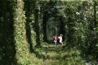 """Найпривабливіше для туристів село. У Клевані в Тунелі кохання хочуть влаштовувати """"швидкі"""" весілля"""