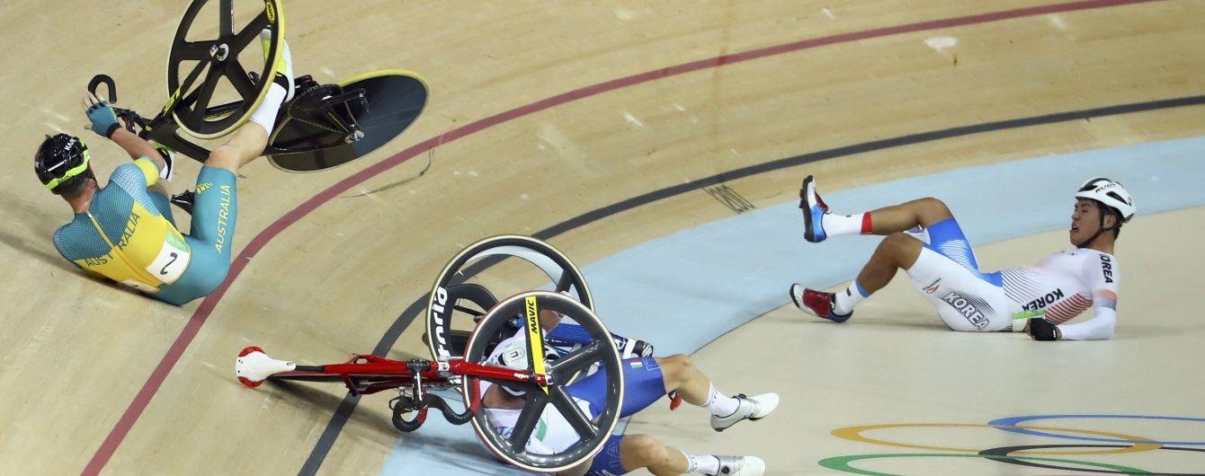 """Британський велогонщик спровокував аварію в дисципліні омніум та виграв """"срібло"""" Олімпіади"""