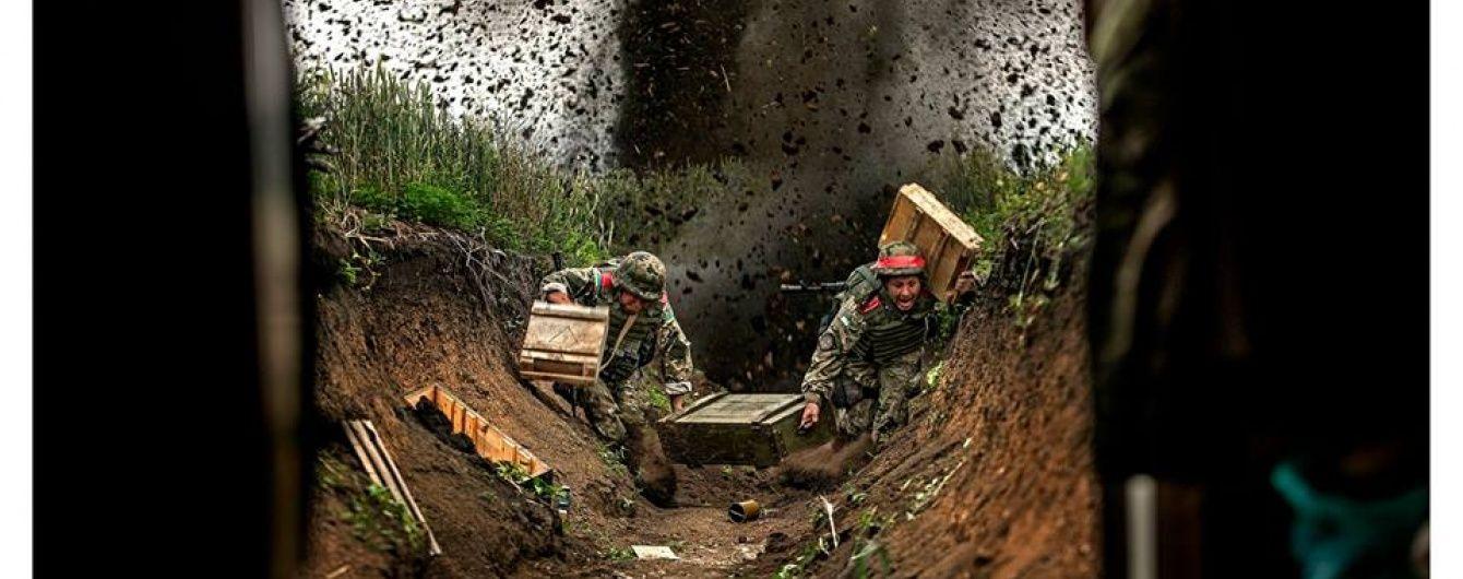 Бойовики прямим влучанням знищили бліндаж морських піхотинців у Широкиному