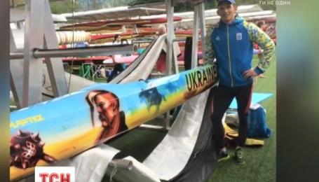 Юрий Чебан выиграл золотую медаль на особом патриотическом каноэ