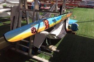 Олимпийский чемпион Чебан раскрыл смысл рисунка на своей лодке: украинский народ - это уср*сь, но не покорюсь