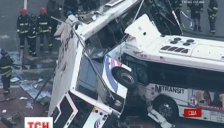 В штате Нью-Джерси произошло масштабное ДТП с участием двух пассажирских автобусов, есть погибшие