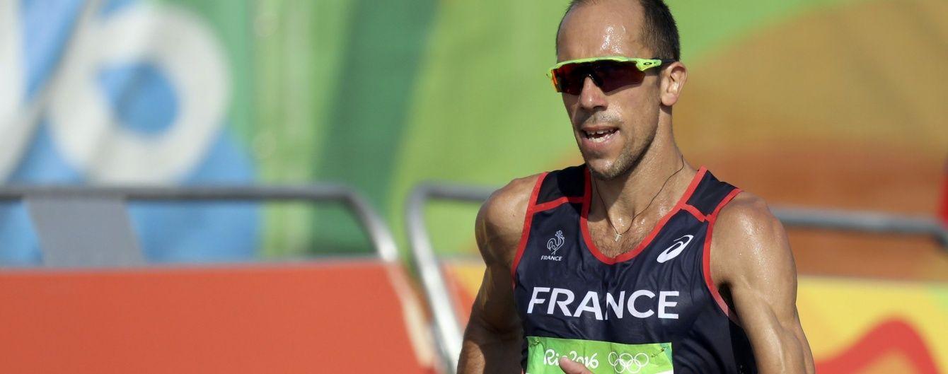 Француз попри діарею героїчно дійшов до фінішу на олімпійській дистанції  в 50 кілометрів