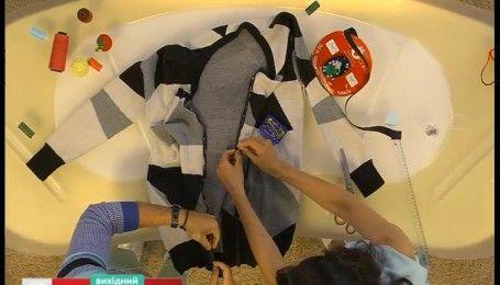 Как сделать модный кардиган из старого свитера