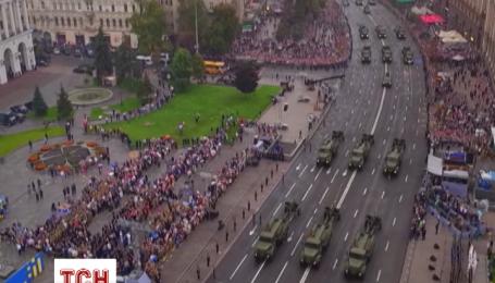 Як виглядав парад до Дня Незалежності з висоти пташиного польоту
