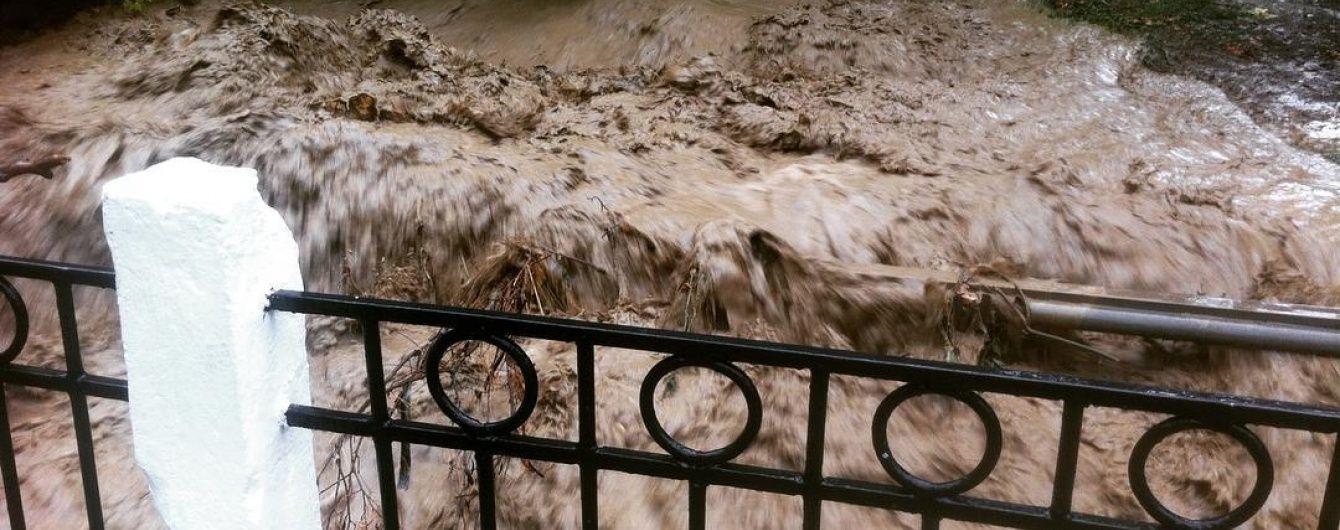 Через спиляні окупантами дерева на Алушту обрушився селевий потік