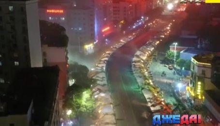Демонтаж моста в рекордные сроки показали китайские коммунальщики