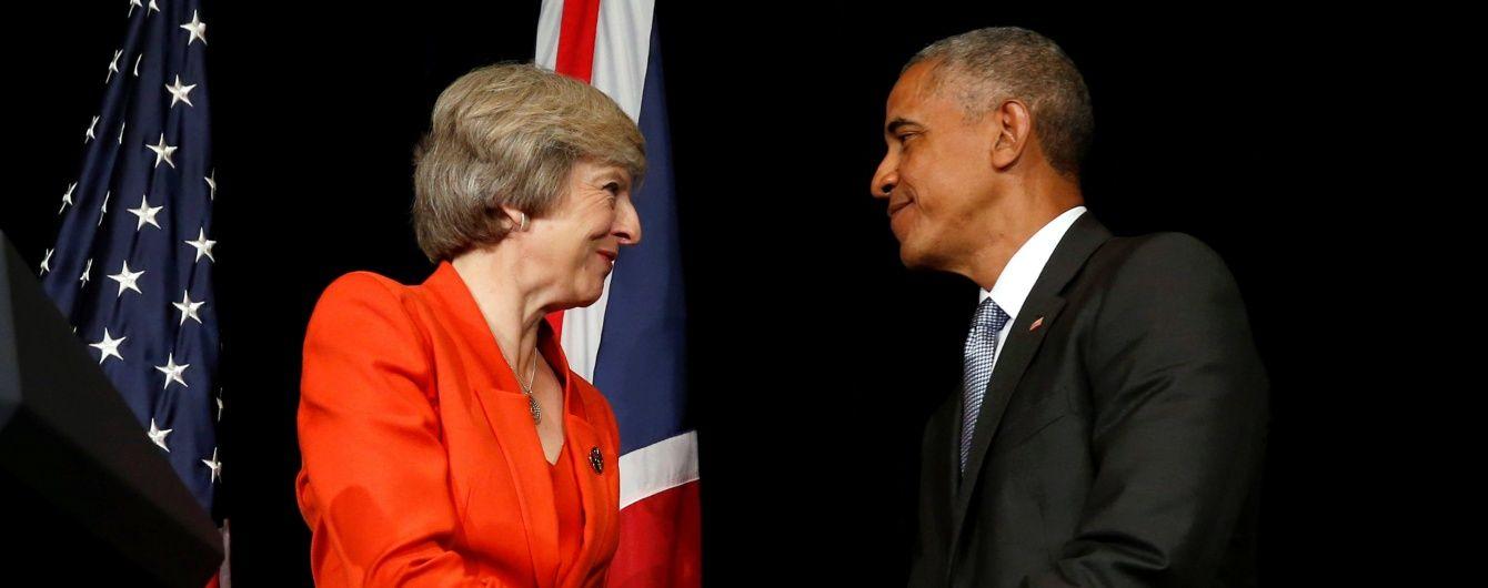 """США і Велика Британія продовжать """"протистояти російській агресії"""" в Україні — Обама"""