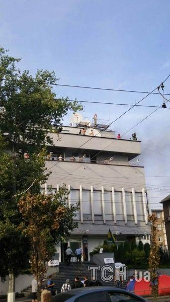 """Поліція прокоментувала пожежу в офісі """"Інтера"""""""