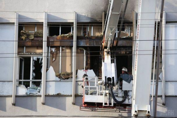 """У ДСНС розповіли, що спровокувало пожежу в офісі телеканалу """"Інтер"""""""