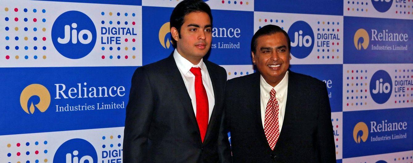 Найбагатша людина  Індії запустила безкоштовний 4G інтернет для мільярда співвітчизників