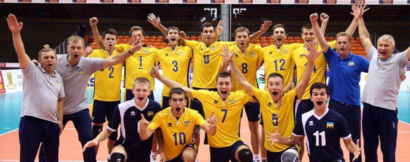 Збірна України пробилася до півфіналу молодіжного чемпіонату Європи з волейболу