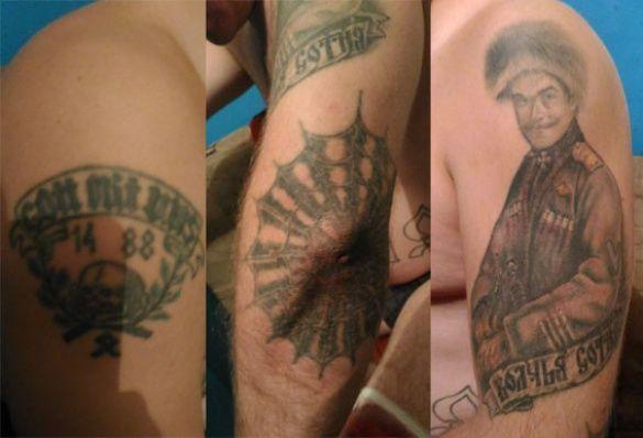 Татуировки российского наемника
