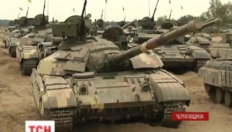 Святої міцної броні: на Гончарівському полігоні привітали танкістів