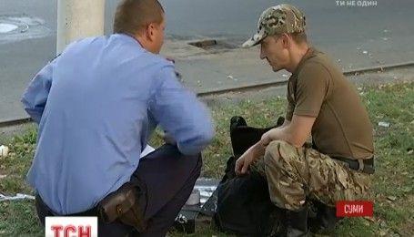 В Сумах расследуют взрыв боевой гранаты напротив местной прокуратуры