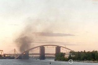 У Києві горів недобудований міст