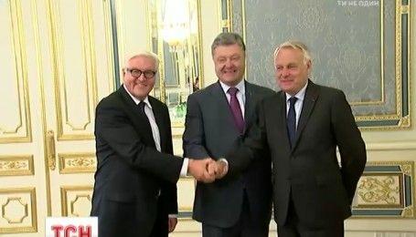 Лидеры МИД Франции и Германии пообещали полную тишину на Донбассе в течение недели