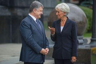 Реформы и благодарности. Порошенко и Лагард обсудили выделение транша МВФ