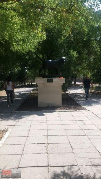 В Одесской области установили памятник собаке, которая ждала умершего хозяина более 10 лет